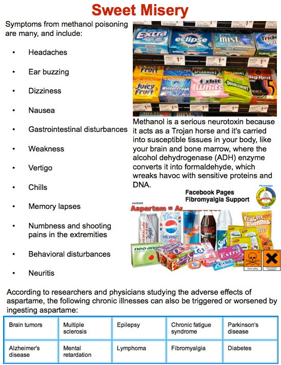 hazardous health risk aspartame Since it appeared on the us market in the 1980s, aspartame and the possible health risks from the substance have been a topic of much debate research has linked the sweetener to diabetes, fibromyalgia and certain forms of cancer.